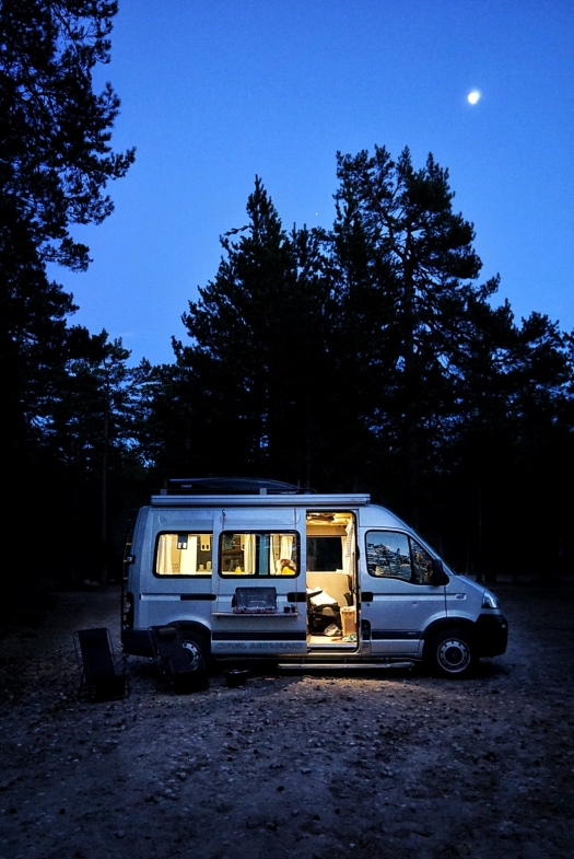 vanlife in the dark